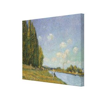アルフレッド・シスレー| Billancourtのセーヌ河 キャンバスプリント