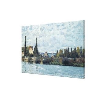 アルフレッド・シスレー| Bougivalのセーヌ河 キャンバスプリント