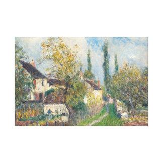 アルフレッド・シスレー- Les Sablonsの道 キャンバスプリント