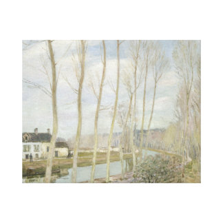 アルフレッド・シスレー- Loingの運河 キャンバスプリント