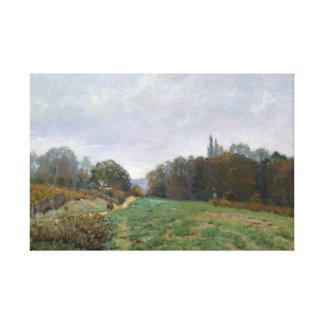 アルフレッド・シスレー- Louveciennesの景色 キャンバスプリント