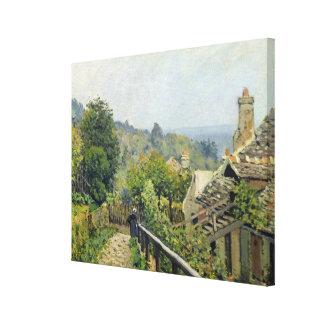 アルフレッド・シスレー| Louveciennesの泥灰質の高さ キャンバスプリント