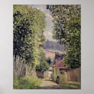 アルフレッド・シスレー| Louveciennesの道 ポスター