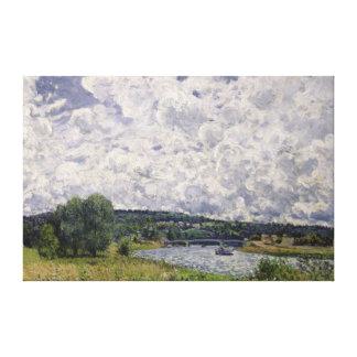 アルフレッド・シスレー| Suresnesのセーヌ河 キャンバスプリント
