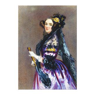 アルフレッドChalon著LovelaceのCountess Ada王 キャンバスプリント