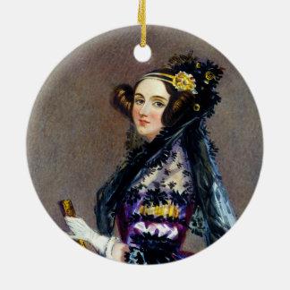 アルフレッドChalon著LovelaceのCountess Ada王 セラミックオーナメント