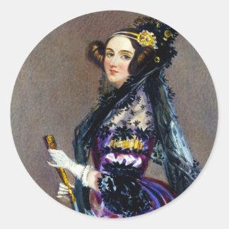 アルフレッドChalon著LovelaceのCountess Ada王 ラウンドシール