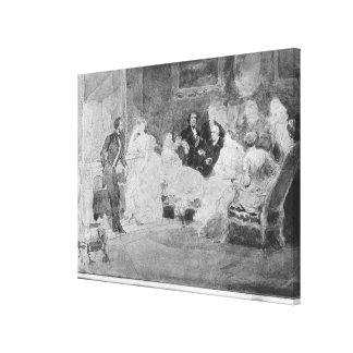 アルフレッドde Musset Eugene Delacroix キャンバスプリント