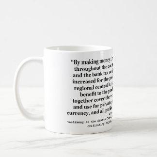 アルフレッドOの司教杖による連邦準備制度の金利 コーヒーマグカップ