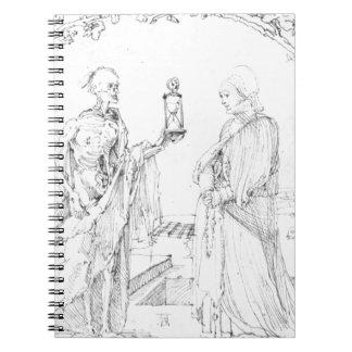 アルブレヒトDurer著死そして妻 ノートブック