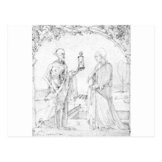アルブレヒトDurer著死そして妻 ポストカード