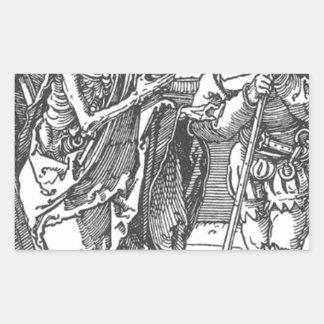 アルブレヒトDurer著死そしてLandsknecht 長方形シール