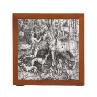 アルブレヒトDurer著聖者のEustaceの版木、銅版、版画 ペンスタンド