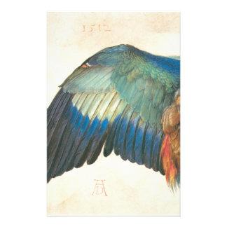 アルブレヒトDurer著青いローラーの翼 便箋