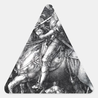 アルブレヒトDurer著騎士、死および悪魔 三角形シール