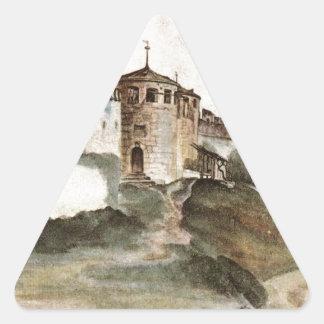 アルブレヒトDurer著Trentoの城 三角形シール