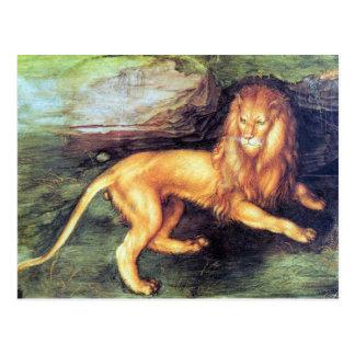 アルブレヒトDurer -ライオン ポストカード