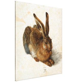 アルブレヒトDÜRER -若いノウサギ1502年 キャンバスプリント