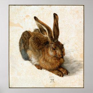 アルブレヒトDÜRER -若いノウサギ1502年 ポスター