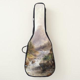アルプスの川の急流の山がちな荒野のギターのバッグ ギターケース