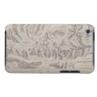 アルプスの氷河システムの地図 Case-Mate iPod TOUCH ケース