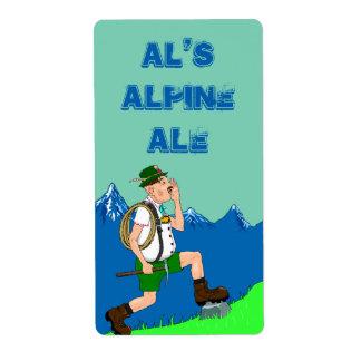 アルプスのYodelのハーフパンツビールHomebrewingのおもしろいのラベル ラベル