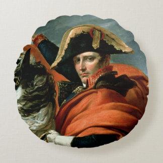 アルプスを交差させているナポレオン ラウンドクッション