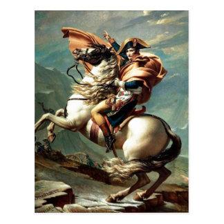 アルプス、ジェイクスルイDavを交差させている1801年のナポレオン ポストカード