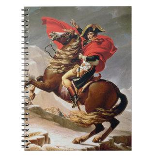 アルプス、c.1800 (キャンバスの油)を交差させているナポレオン ノートブック