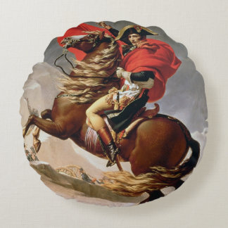 アルプス、c.1800 (キャンバスの油)を交差させているナポレオン ラウンドクッション