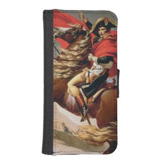 アルプス、c.1800 (キャンバスの油)を交差させているナポレオン iPhoneSE/5/5sウォレットケース
