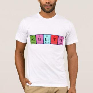 アルベルトの周期表の名前のワイシャツ Tシャツ