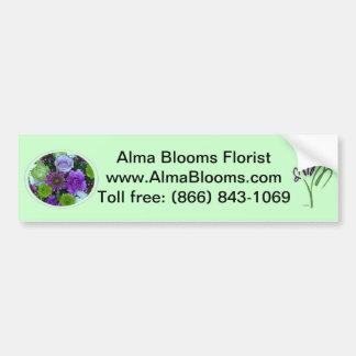 アルマは紫色の花束咲きます バンパーステッカー