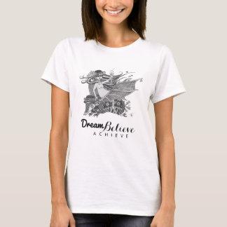 アルマジロのこうもりの女の子|の夢は達成しますTシャツを信じます Tシャツ