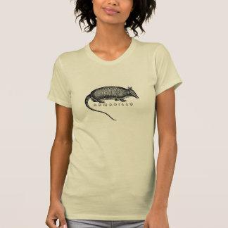 アルマジロのエッチングの自然のTシャツ Tシャツ