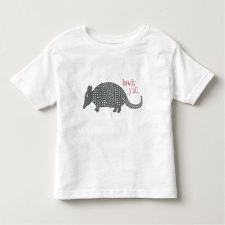 アルマジロのテキサス州のかわいいやあTシャツ トドラーTシャツ