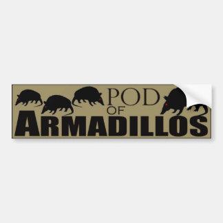 アルマジロのポッド バンパーステッカー