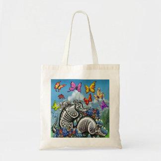 アルマジロのBluebonnetsの蝶野生の花 トートバッグ