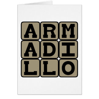 アルマジロ、胎盤があるほ乳類 カード