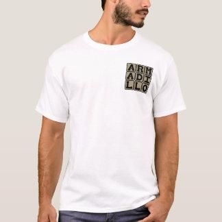 アルマジロ、胎盤があるほ乳類 Tシャツ
