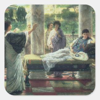 アルマTadema彼の詩を読む| Catullus スクエアシール