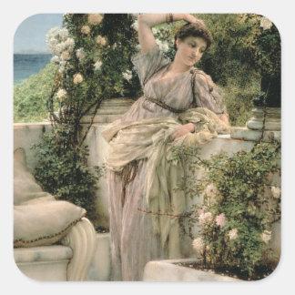 アルマTadema |の「すべてのバラのあなたのバラ、1885年 スクエアシール