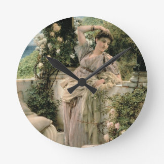 アルマTadema |の「すべてのバラのあなたのバラ、1885年 ラウンド壁時計