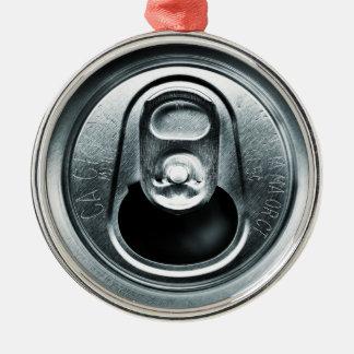 アルミ缶の上のオーナメント シルバーカラー丸型オーナメント