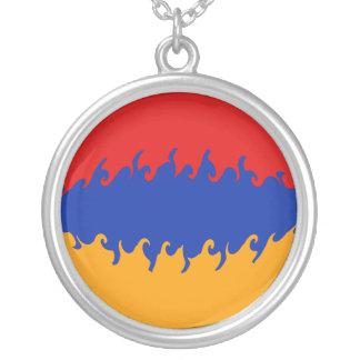 アルメニアのすごい旗 シルバープレートネックレス