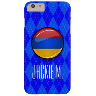 アルメニアの光沢のある円形の旗 BARELY THERE iPhone 6 PLUS ケース