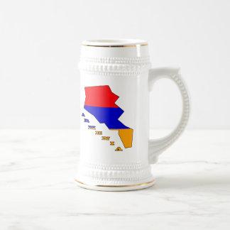 アルメニアの地図の旗 ビールジョッキ