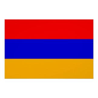 アルメニアの旗が付いている愛国心が強いポスター ポスター