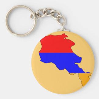 アルメニアの旗の地図 キーホルダー