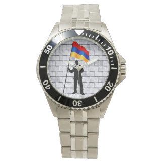アルメニアの旗の腕時計 腕時計